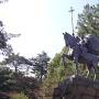 母衣衆時代の前田利家銅像(尾山神社)