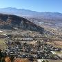 展望台から見下ろした龍岡城全景