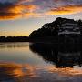 早朝の清洲櫓