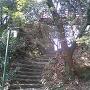 岐阜城の堀切
