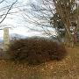 本丸跡にある石碑、案内板
