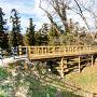本郭と二郭の堀切と木橋