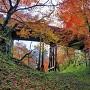 紅葉と空堀(桜雲橋下より)