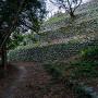 本丸北側の4段石垣