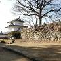 天守台石垣(東側から撮影)