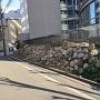 ドーンセンター脇の復元石垣
