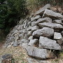 水口岡山城 伝本丸北面二段石垣 下段