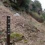 水口岡山城 食い違い虎口と石垣