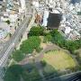 上から見た高崎城