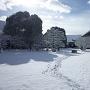 雪の二の丸御殿中庭