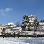 城址近景雪景色