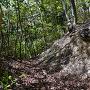 堀切の石積み