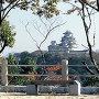 改修前の姫路城天守を景福寺から[提供:姫路市]
