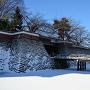 雪の城、雪の石垣、雪の堀