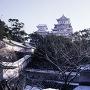 雪の大天守を仰ぐ[提供:姫路市]