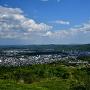 津山市街地(本丸から)
