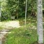 本丸下の城跡碑