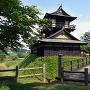 二層櫓と西二ノ曲輪 木橋