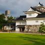 夕どきの本丸富山郷土博物館