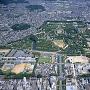 姫路城を中心とした市街地空撮(改修前)[提供:姫路市]