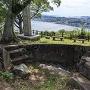 城跡石碑と眺望