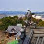 模擬天守から、妙見神社と 小鳴門海峡の方面
