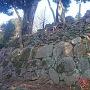 主郭にある日枝神社の石積み