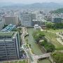 静岡県庁別館21階の展望ロビーから見た坤櫓