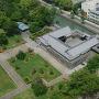静岡県庁別館21階の展望ロビーから見た巽櫓