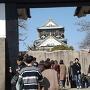 櫻門を通して見た天守閣