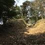 竪堀(下から見上げる)