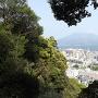 鹿児島城・城山からの桜島の眺望