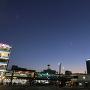 日が暮れた姫路駅