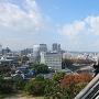 天守から見た岡山の市街地