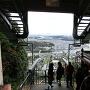山頂のロープウェイ乗降場から岩国市内の景色