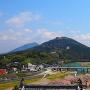 天守から見る冨士山(とみすやま)
