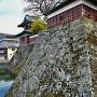 城址碑と大手門石垣