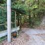 白糸の滝駐車場の登山口