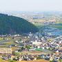 揖斐川町を見下ろす(本丸より)