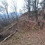 搦め手側から尾野山城本郭を見る