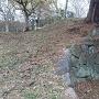 矢沢城の石垣?