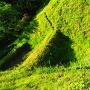 茶臼郭と小郭間の畝堀