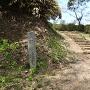 城址碑と本丸への階段