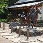 松尾芭蕉と曽良の像