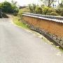 総門跡の土塀