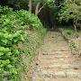 登城口の石段