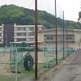 中学校の脇道の登城口