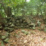 一の城(堀の内側の石積み)