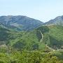 立雲峡展望スポット2より撮った城跡全景