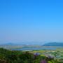 北の丸からの眺望(安土城と観音寺城)